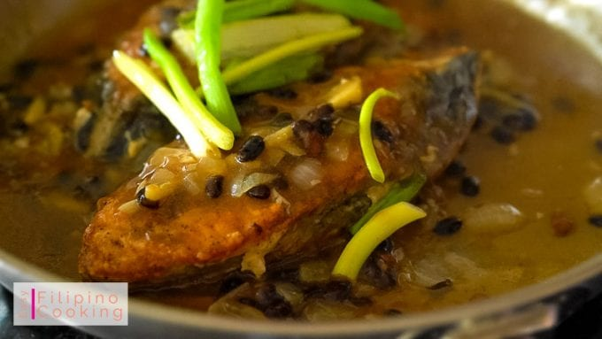 Picture of Fish cooked with Tausi (Fermented Soybeans)
